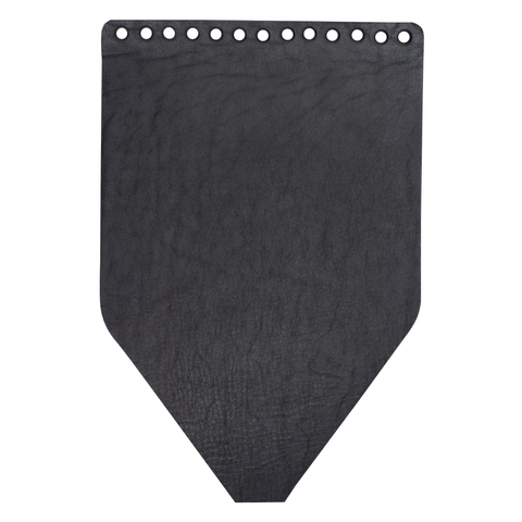 Клапан для рюкзачка кожаный черный матовый