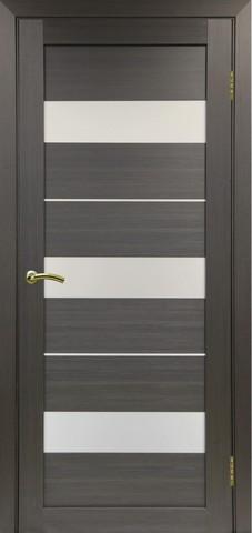Дверь Optima Porte Турин 526.122, стекло матовое, цвет венге, остекленная