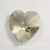 6202/6228 Подвеска Сваровски Сердечко Crystal Silver Shade (18х17,5 мм)