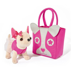 Smoby Мягкая игрушка Chi Chi love Собачка Чихуахуа с розовой сумкой (5897403)