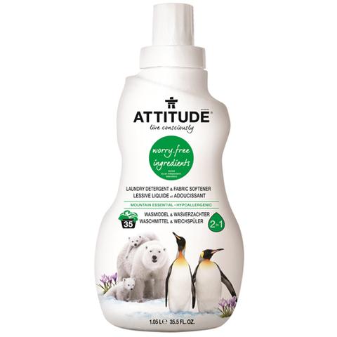 Жидкое средство для стирки со смягчителем 2 в 1 Attitude