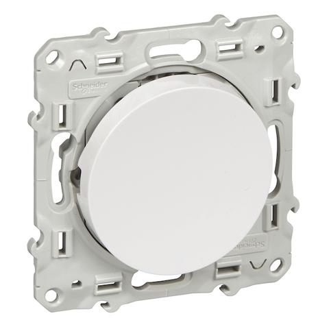 Выключатель одноклавишный (схема 1а) 10 АХ, 250 В. Цвет Белый. Schneider Electric(Шнайдер электрик). Odace(Одес). S52R206
