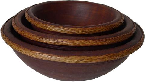 Набор круглых ваз-тарелок