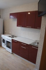 Кухня Олива цвет: Гранат