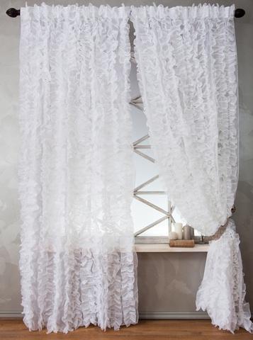 Комплект штор Эбби белый