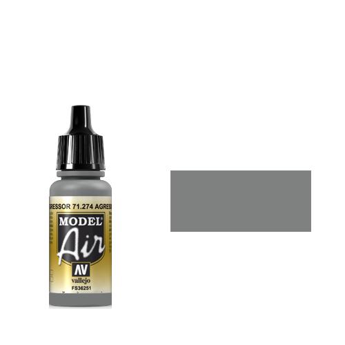274 Краска Model Air Серый (Agressor Gray) укрывистый, 17 мл