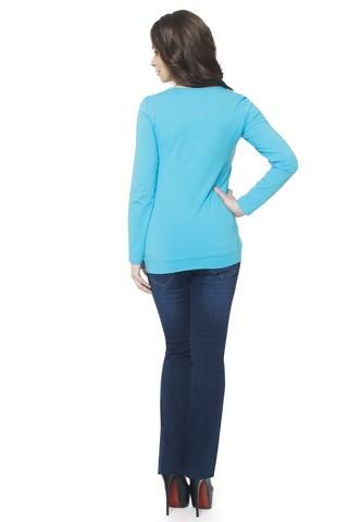 Блузка 07374 голубой