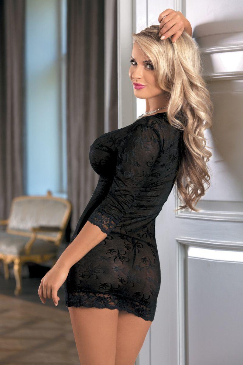 Сексуальная в черном платье #13