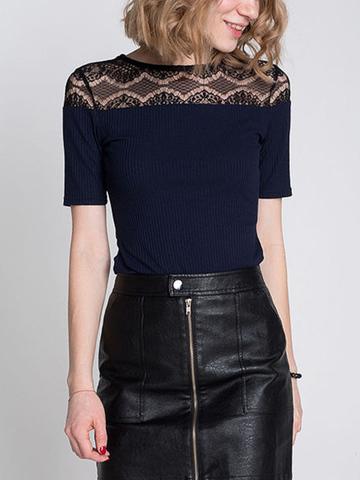 GKT006394 блузка женская, темно-синяя