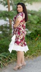Адажио лето. Праздничное платье больших размеров. Роза бордо.