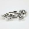 "Подвеска ""Лев"" (цвет - античное серебро) 25х15 мм"