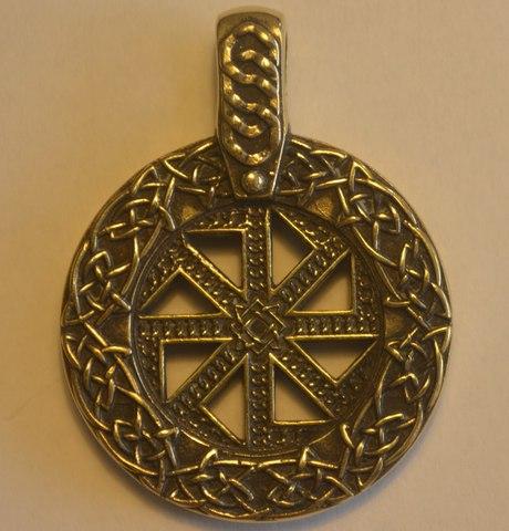 Авторский кулон из бронзы Коловрат П-036