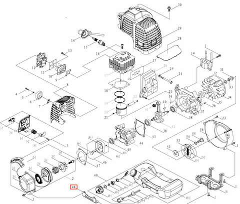 Кронштейн стартера для лодочного мотора T3,5 Sea-PRO