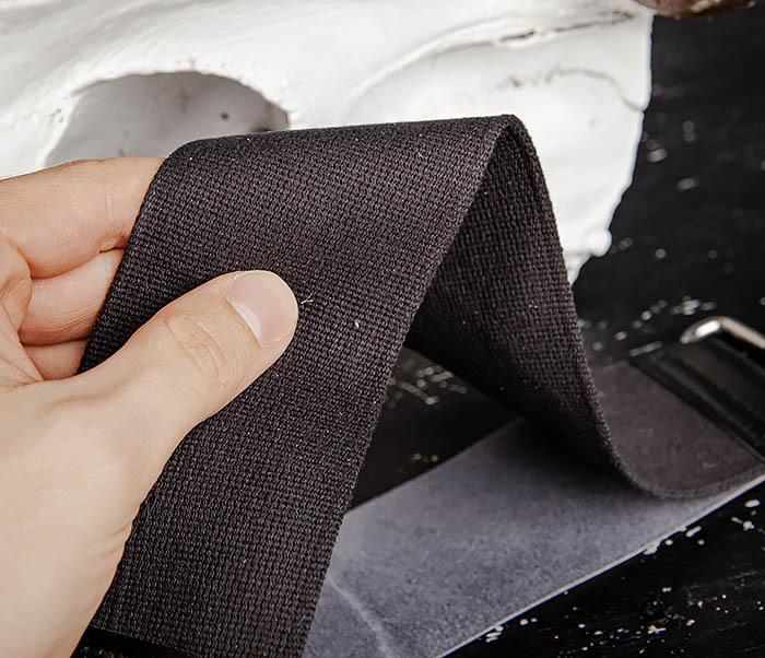 RAZ486 Двойной ремень для правки бритвы из кожи и текстиля фото 05