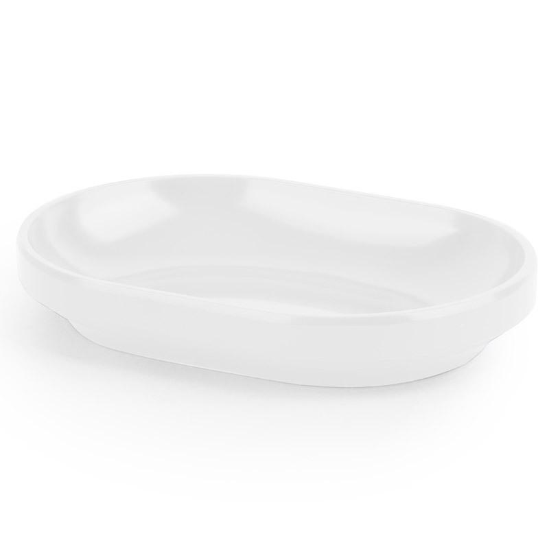 Мыльница Umbra step белая 023837-660Мыльницы<br>Мыльница Umbra step белая 023837-660<br><br>Функциональность мыльницы неоспорима - именно она защищает нашу раковину от мыльных подтеков и пятен. А как насчет дизайна? В Umbra уверены: такой простой и ежедневно используемый предмет должен выглядеть лаконично, но необычно. Ведь в небольшой ванной комнате не должно быть ничего вызывающе яркого. Немного экспериментировав с формой, дизайнеры создали мыльницу Step, которая придется кстати в любом доме!<br>Официальный продавец<br>