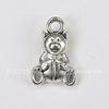 """Подвеска 3D """"Мишка"""" (цвет - античное серебро) 16х10 мм"""