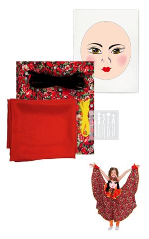 Фото Платковая кукла / Цыганка (комплект для пошива) рисунок Ткани и Наборы для пошива