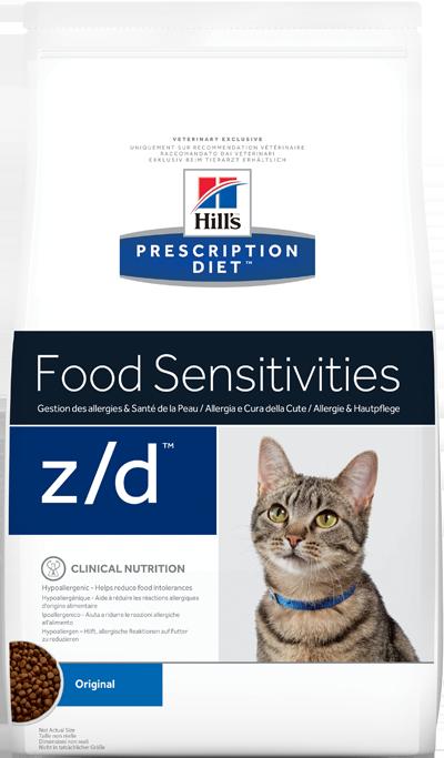 Сухой корм Ветеринарный корм для кошек Hill`s Prescription Diet z/d, при пищевых аллергиях зд.png
