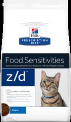 Ветеринарный корм для кошек при пищевых аллергиях Hill`s Prescription Diet z/d