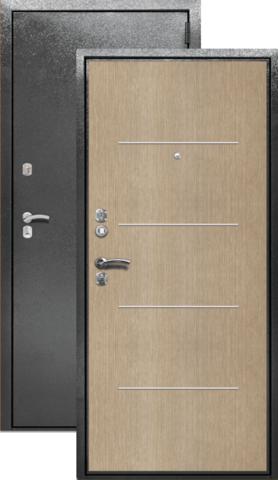 Сейф-дверь входная Берлога СК-2Г, 2 замка, 1,7 мм  металл, (серебро антик+беленый дуб)
