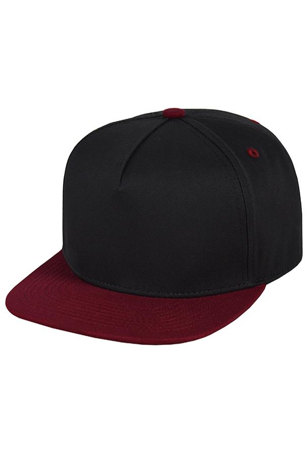 Бейсболка черная с бордовым фото 1