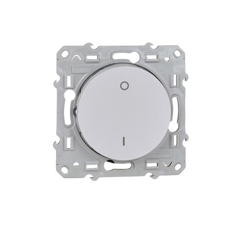 Выключатель одноклавишный двухполюсный (схема 2) 16 АХ, 250 В. Цвет Белый. Schneider Electric(Шнайдер электрик). Odace(Одес). S52R262