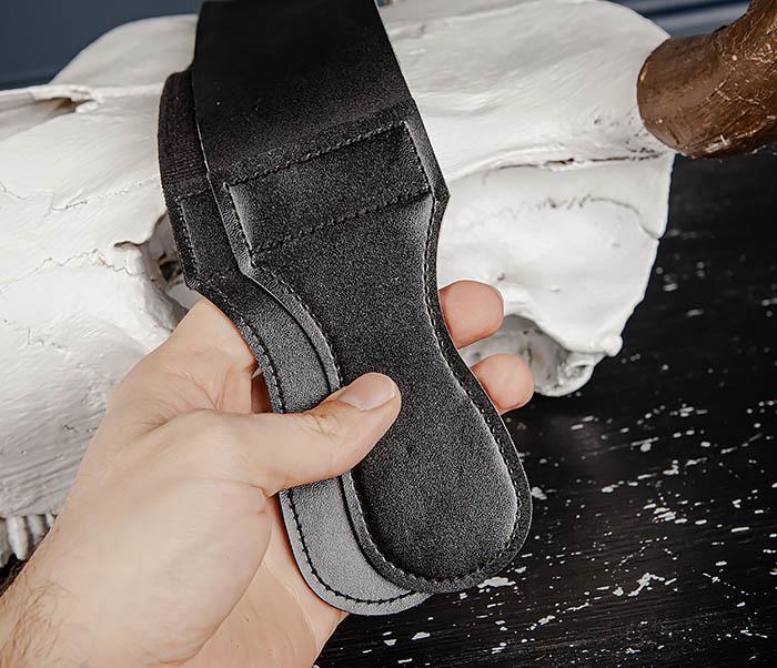 RAZ486 Двойной ремень для правки бритвы из кожи и текстиля фото 07