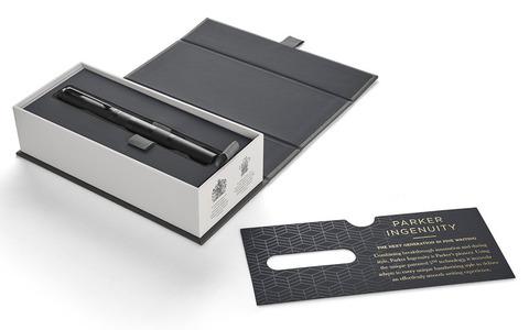 Parker Ingenuity - Black PVD, ручка 5th пишущий узел, F