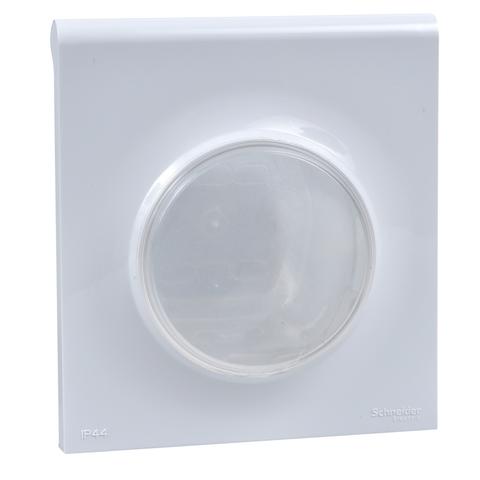 Выключатель одноклавишный IP44 - 10 АХ, 250 В. Цвет Белый. Schneider Electric(Шнайдер электрик). Odace(Одес). S52R2010W