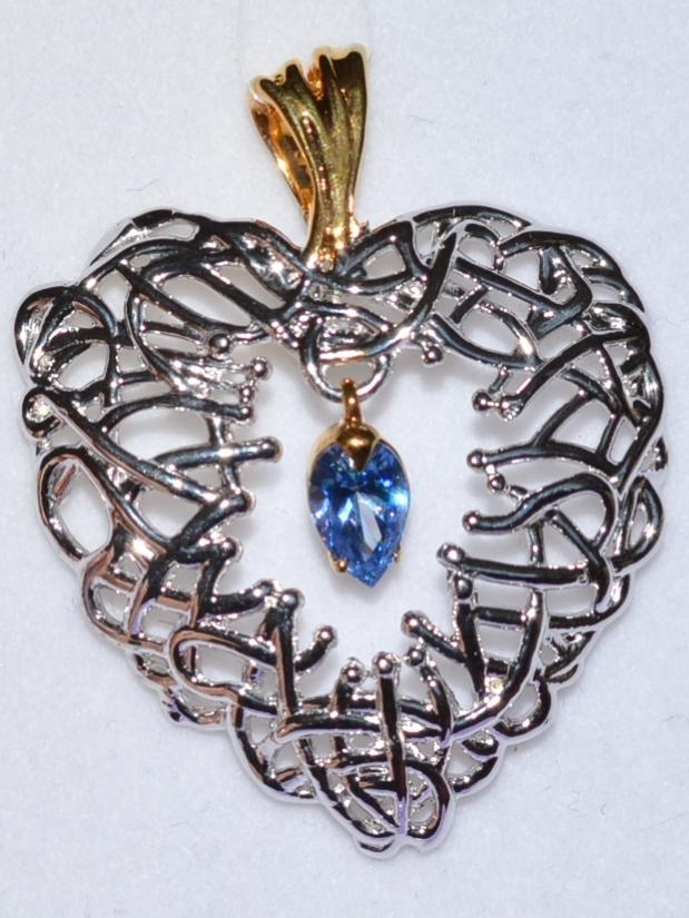 Сердце (кулон из серебра)