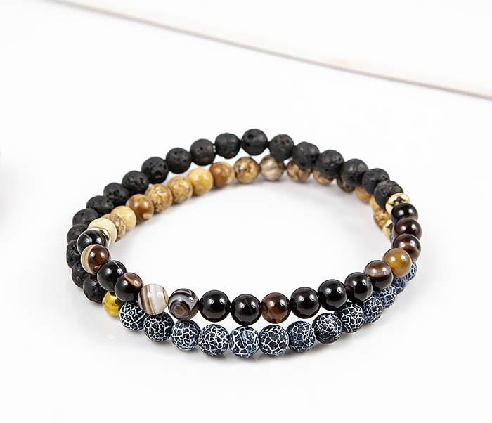 Boroda Design, Двойной браслет из натуральных камней