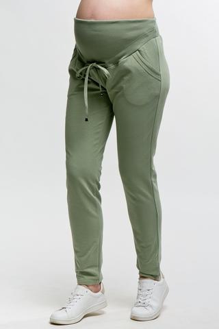 Спортивные брюки для беременных 11562 оливковый