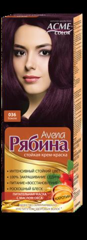 Рябина Avena Крем-краска для волос тон №036 божоле