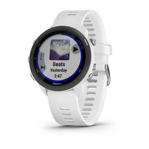 Купить Часы для бега Garmin Forerunner 245 Music белый с белым ремешком (010-02120-31) по доступной цене