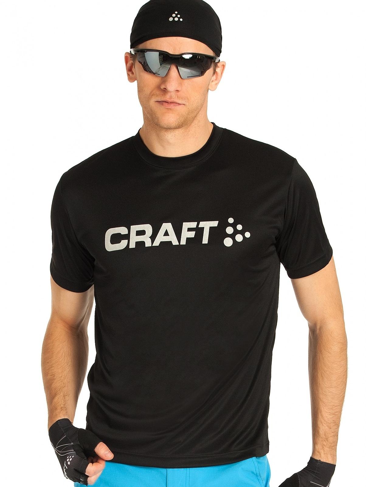 Мужская беговая футболка Craft Active Run (198921-1999) черная фото