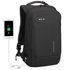 Рюкзак KALIDI  KY-Z 563 USB темно-серый