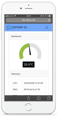 Цифровой WIFI термометр ODTEMP-2