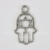 "Подвеска ""Ладонь Хамса"" 21х12 мм (цвет - античное серебро)"