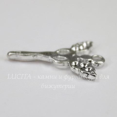 """Подвеска """"Фея"""" 21х14 мм (цвет - античное серебро)"""