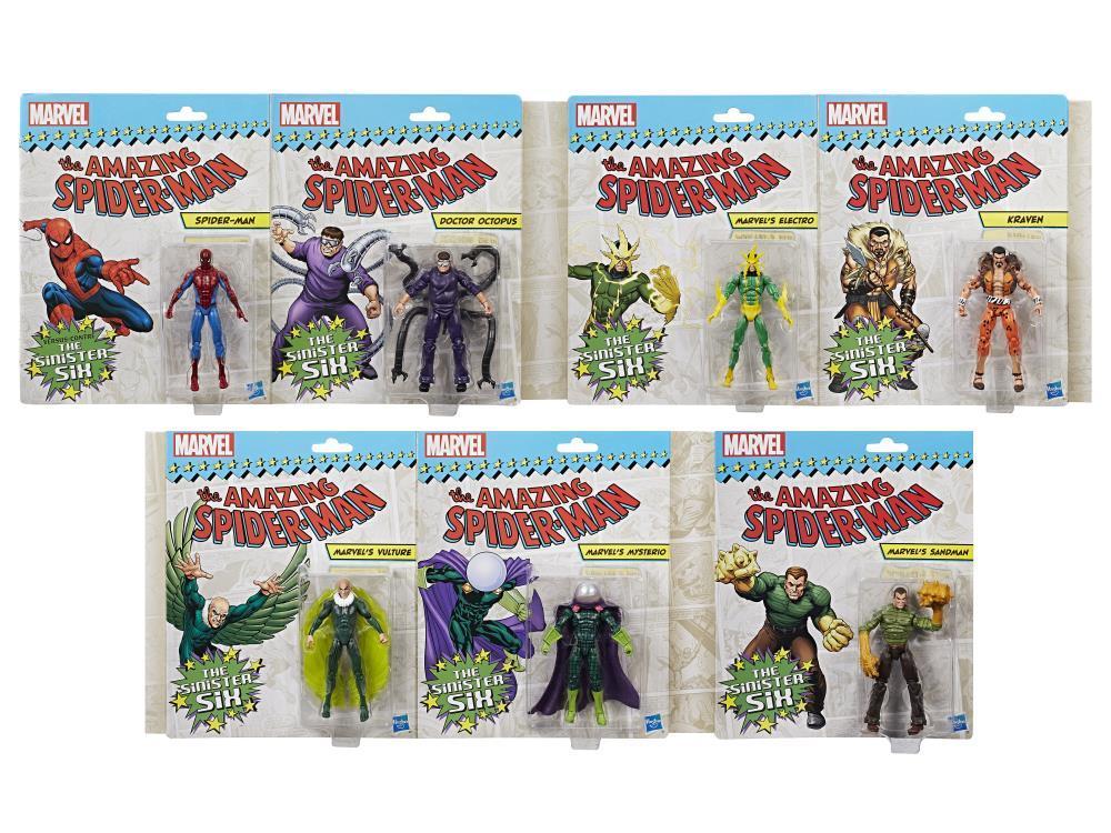 Набор 7 фигурок Marvel Legends Зловещая Шестерка (The sinister six) 9,5 см