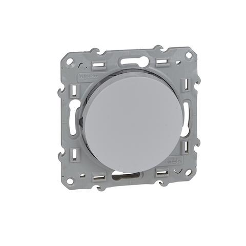 Выключатель/переключатель одноклавишный на 2 направления(проходной, схема 6) 10 АХ, 250 В. Цвет Белый. Schneider Electric(Шнайдер электрик). Odace(Одес). S52R203