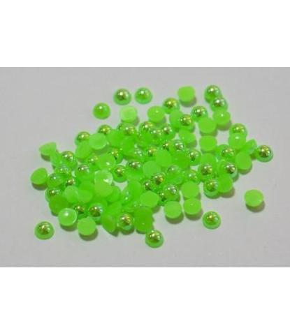 113 стразы круглые зеленые 100 шт