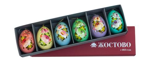 Набор из 6 жостовских пасхальных яиц SET04D-667785776