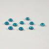 Кабошон круглый Чешское стекло, цвет - голубой, 3 мм, 10 штук