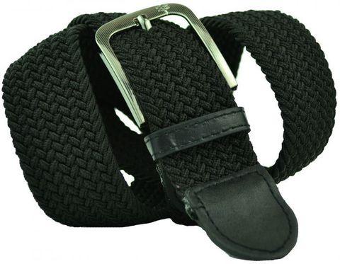 Ремень-резинка текстильный эластичный джинсовый чёрный 40 мм 40Rezinka-094