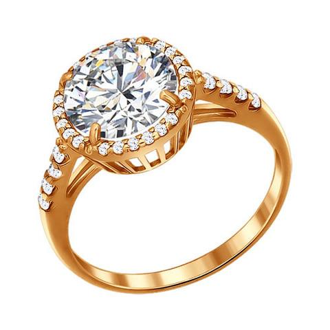 Кольцо из золочёного серебра от SOKOLOV арт.93010380