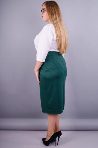 Симона. Офисная юбка большие размеры. Бутылка.