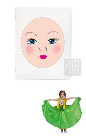 Фото Платковая кукла / Весна (лицо) рисунок Купить платковые куклы от производителя! Каталог платковых кукол для театра в детском саду.