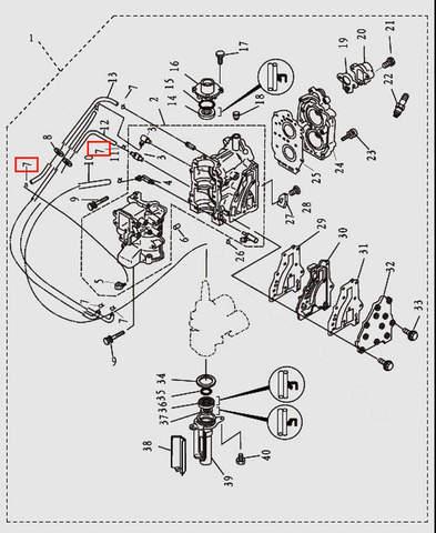 Хомут для лодочного мотора T9.8 Sea-PRO (2-7)