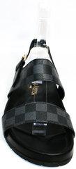 Мужские летние босоножки Louis Vuitton 1008 01Blak.